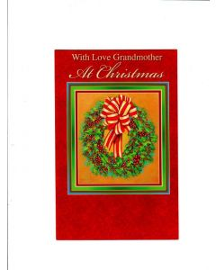 with love grandmother at christmas Card