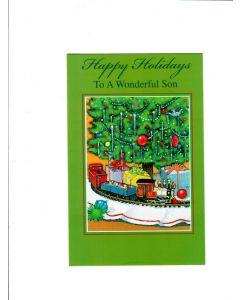 happy holidays to a wonderful son Card