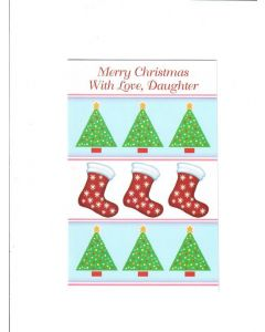Merry Christmas Card - With Love, Daughter