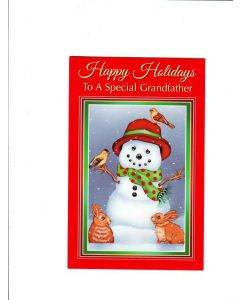 happy holidays to a special grandfather Card