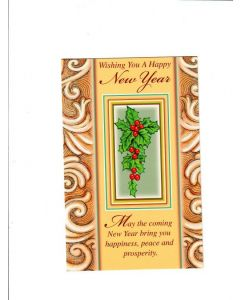 wishing you a happy new year Card
