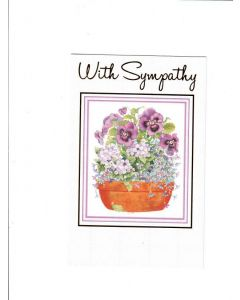 With Sympathy Card - Flower Pot | London Greetings