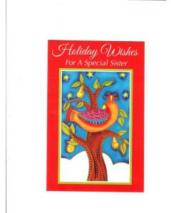 holiday wishes for a special sister Card