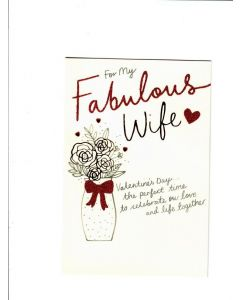for my fabulous wife Card