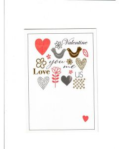 valentine love you me us Card
