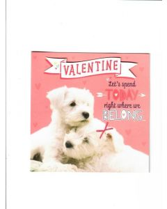 valentine lets special right where we belong Card