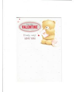 for my valentine I love you Card