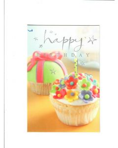 Happy Birthday Card - Cup Cake