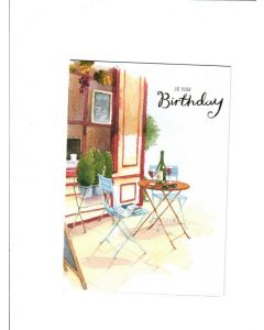 Happy Birthday Card - Chilling Time