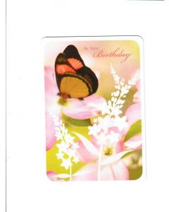 On Your Birthday Card - Butterfly