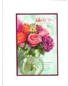 with you birthday blessings Card
