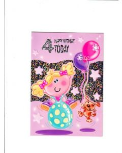 4 happy birthday today Card