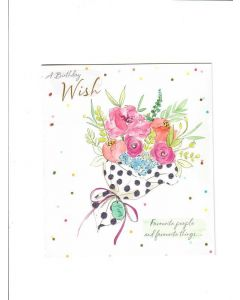 a birthday wish favourite people and favourite things.. Card