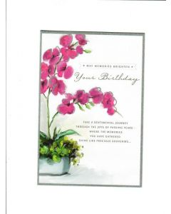 may memories brighten your birthday Card