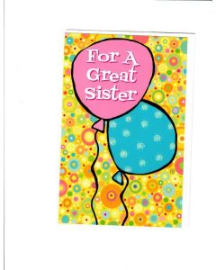For A Great Sister Card