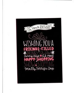 on your birthday wishing you a friends filled drinks -chilled yummy food and fab mood Card