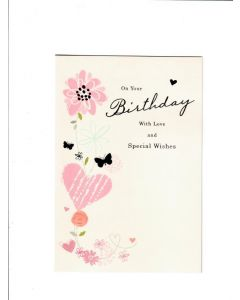 on your birthday with love and special wishes Card