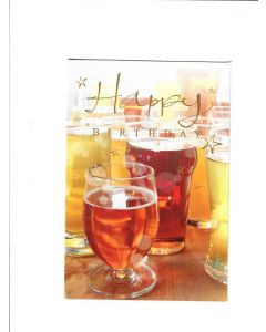 Happy Birthday Card - Drink All Night