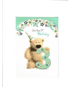 Its Your 3rd Birthday Card - Teddy Bear
