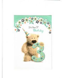 Its Your 3rd Birthday Card - Teddy Bear