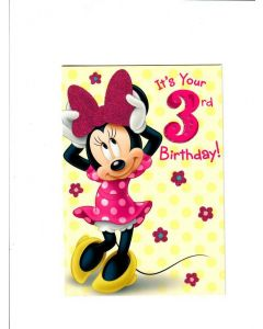Its Your 3rd Birthday Card - Mickey Mouse