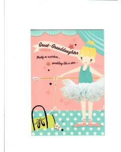 great granddaughter pretty as a picture sparkling as a star Card