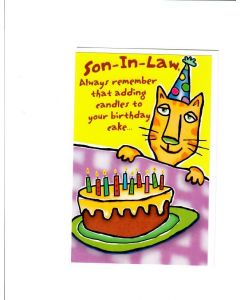 Son In Law Card - Add Candles to the Cake