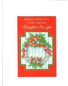 Holiday Wishes For A Very Special Daughter-In -Law Card