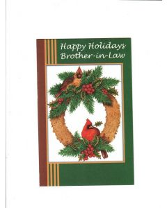 happy holiday brother-in -law Card