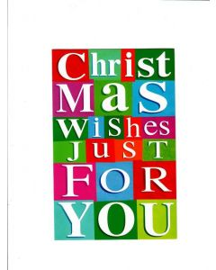 Christmas Wishes Just For You Card