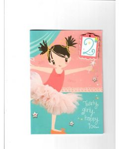 twirly girly happy too?...... Card