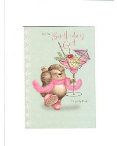 for the birthday girl its party time Card