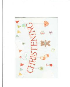 for your christening Card 190mm X 130mm