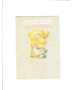 special granddaughter on your christmas day Card 190mm X 130mm