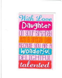 With Love Daughter Card - Birthday wishes