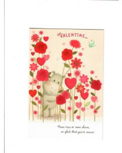 valentine come rain come shine so glad that you're mine Card 190mm X 130mm [PACK OF 6]