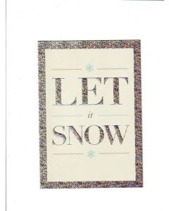 Hello Friend Card - Let it Snow