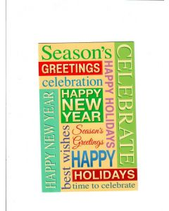 season's greetings happy new year Card