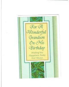 For A Wonderful grandson on his birthday Card