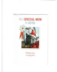 for a special mum at christmas christmas time is wishing time LGS1540 Card 190mm X 130mm