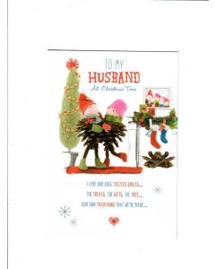 to my husband at christmas time Card