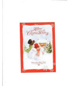 happy christmas wishing have a very merry time Card 155mm X 105mm [PACK OF 6]