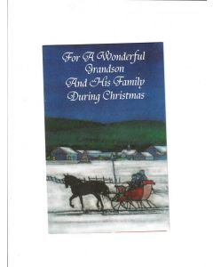 for a wonderful grandson and his family during christmas Card