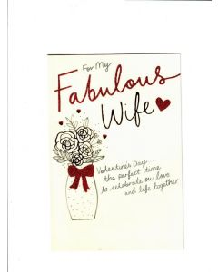 for my fabulous wife LGS1572 Card 190mm X 130mm