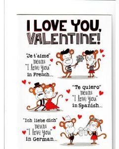 I love you Valentine LGS1576 Card 215mm X 160mm