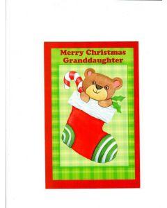 Merry Christmas Granddaugter Card