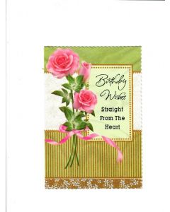birthday wishes straight from the Heart Card