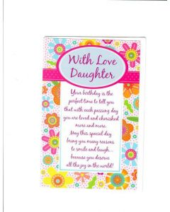 With Love Daughter Card - You Deserve Joy