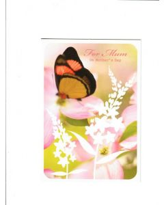 For Mum on mothers day Card 190mm X 130mm