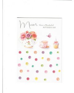 Mum Have a Wonderful Mothers day Card 190mm X 130mm [PACK OF 6]